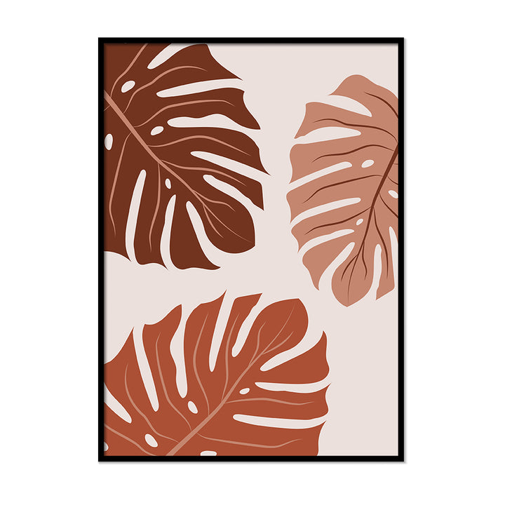 Monstera Silhouette Print Burnt Orange | Printers Mews