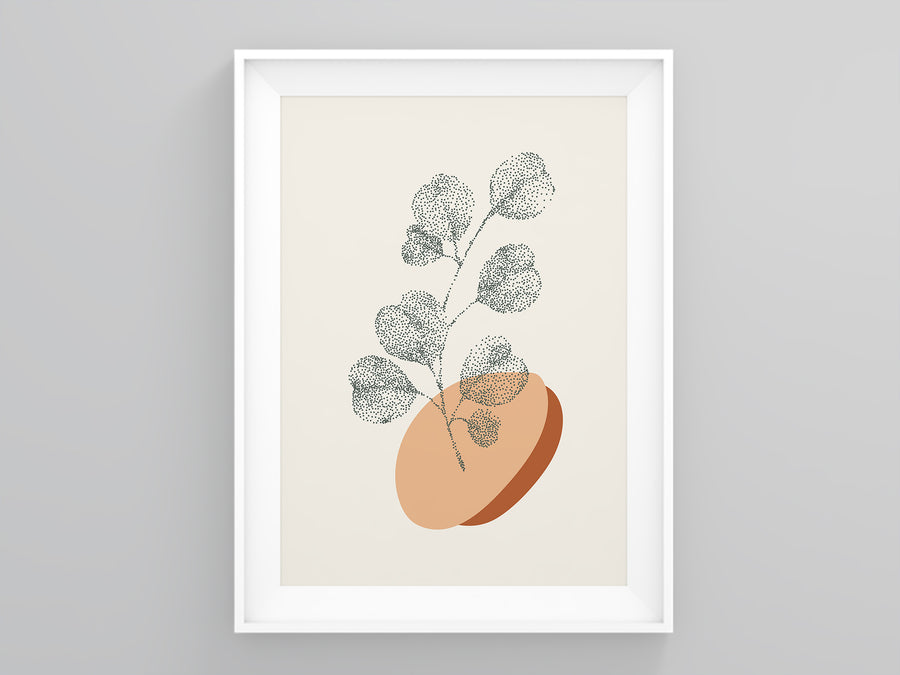 Dotted Plant Burnt Orange Poster | Printers Mews