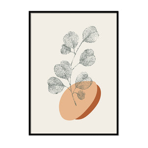 Dotted Plant Terracotta Print | Printers Mews