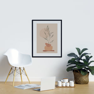 Dotted Plant Beige  | Printers Mews