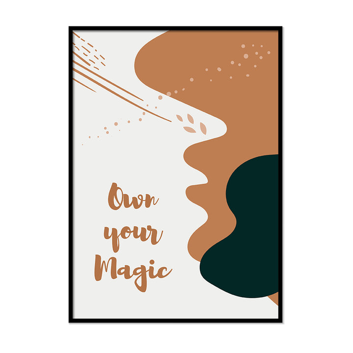 Own Your Magic Burnt Orange Art Quote | Printers Mews