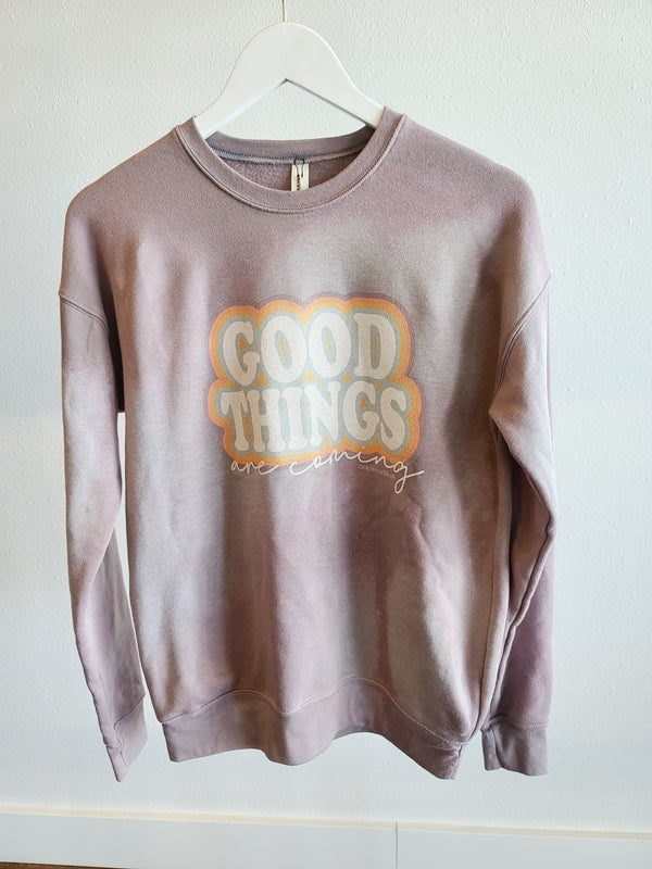 Bleached Vintage Sweatshirt -Good Things Are Coming