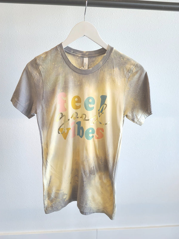 Bleached Vintage Boyfriend Tee - Feel Good Vibes
