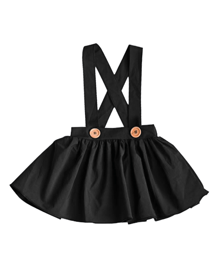 Suspender Skirt for Babies and Toddlers - Black