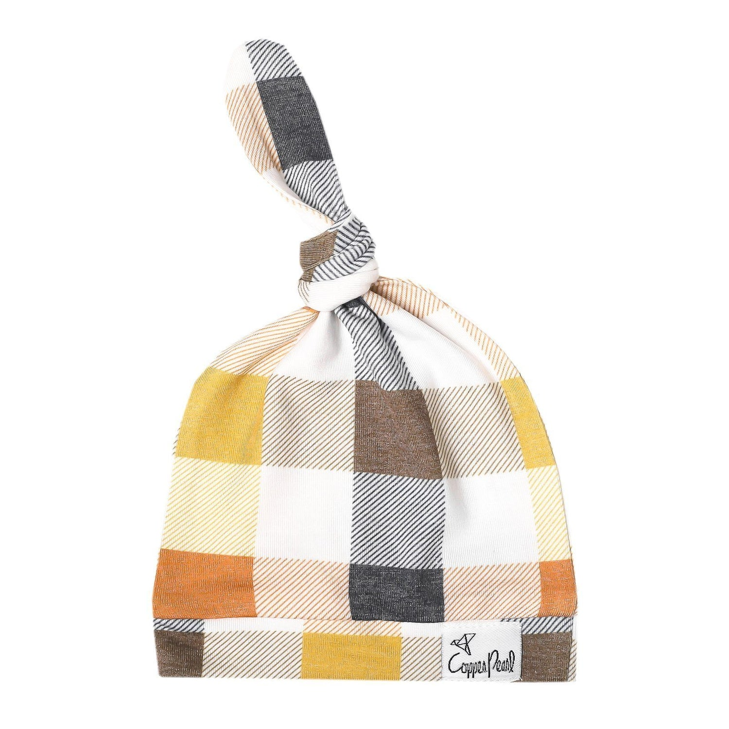 Top Knot Beanie for Infants - Harvest