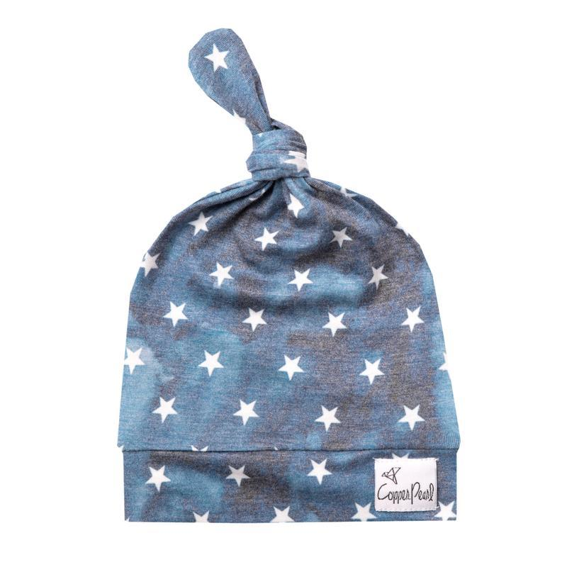 Top Knot Beanie for Infants - Patriot