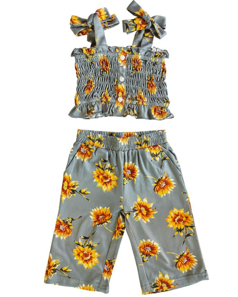 Tank and Pants Set - Sunflower