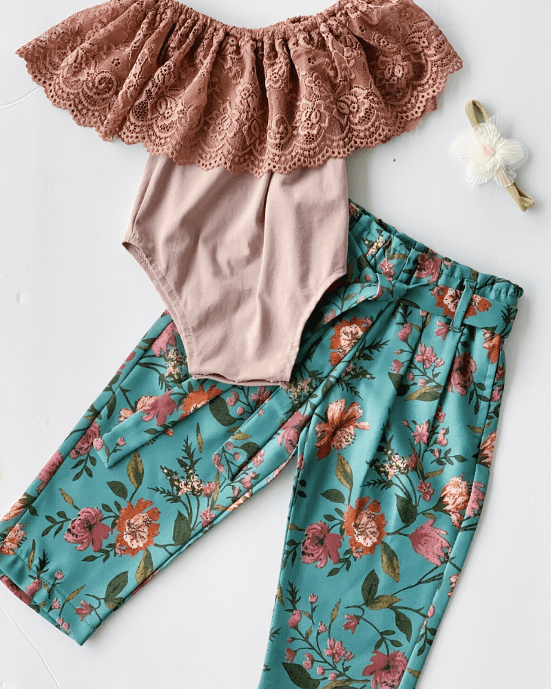 Palazzo Pants for Babies and Toddlers - Floral