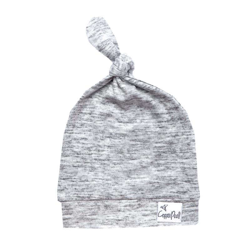 Top Knot Beanie for Infants - Asher