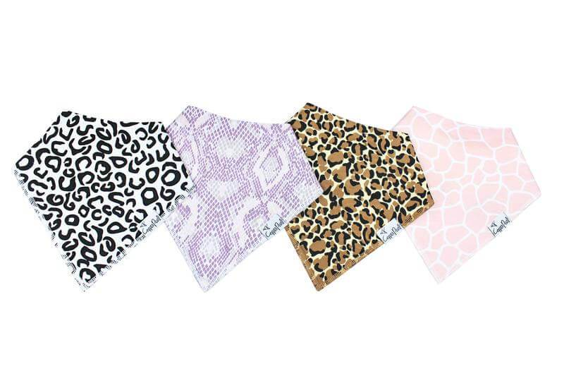 Bandana Bib Set - Animal Print