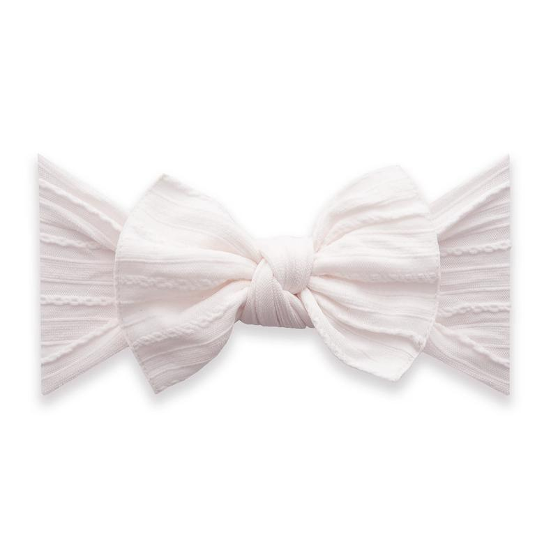 Baby Bling Cable Knit Knot - Ballet Pink