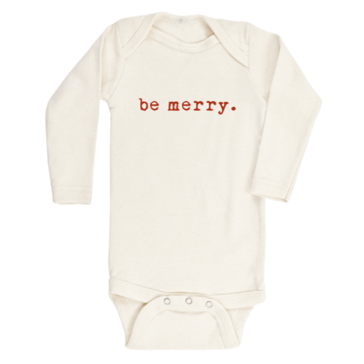 Organic Baby Long Sleeve Onesie - Be Merry