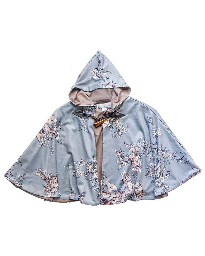 Poncho - Blue Floral