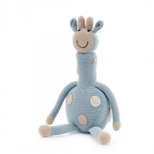 Organic Knit Baby Toy - Blue Giraffe