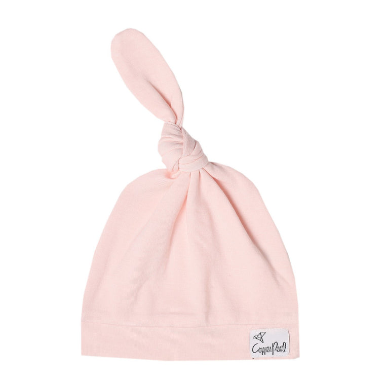 Top Knot Beanie for Infants - Blush