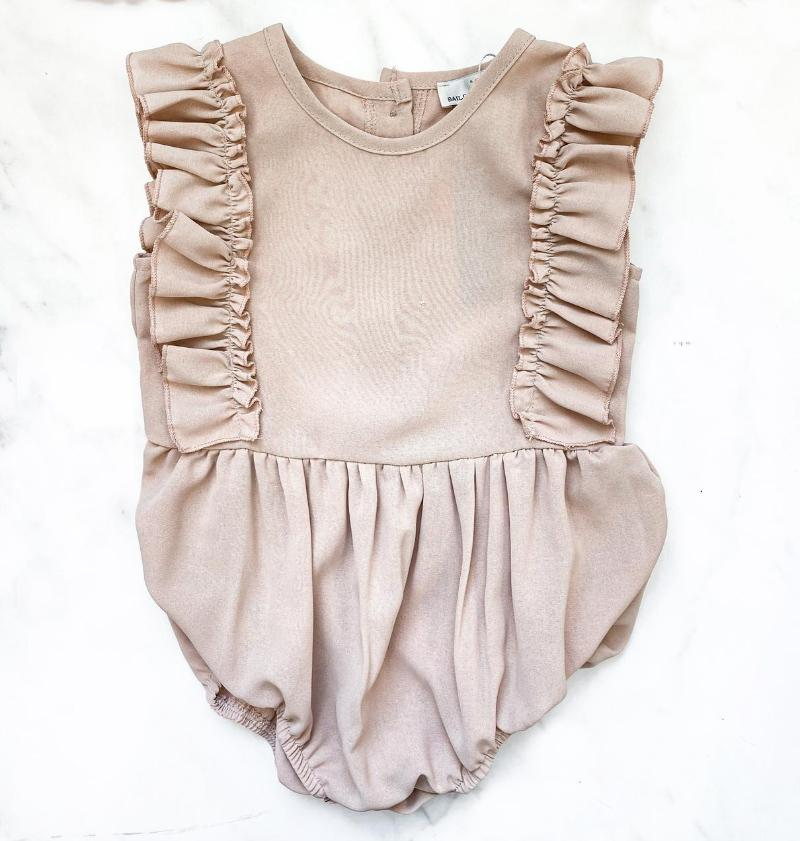 Bubble Romper - Taupe