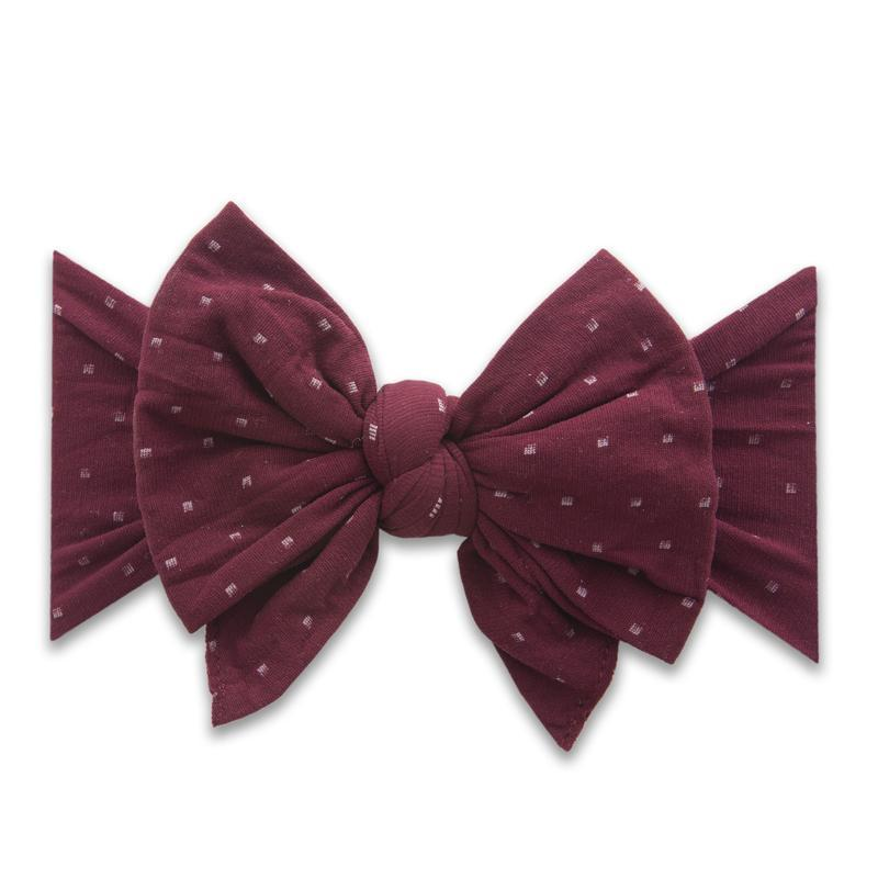 Baby Bling DEB Printed Bow - Burgundy Dot