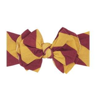 Baby Bling Fab-Bow-Lous Headband Bow - Burgundy/Gold