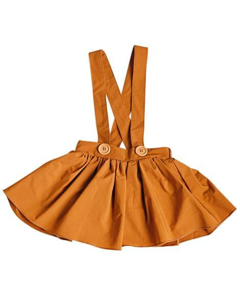 Suspender Skirt for Babies and Toddlers - Camel