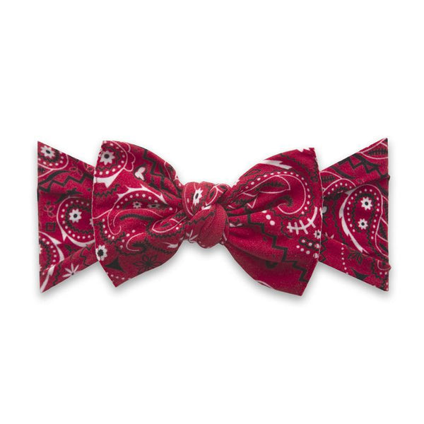 Baby Bling Printed Bow Knot - Cherry Bandana
