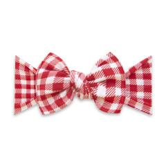 Baby Bling Printed Bow Knot - Cherry Check