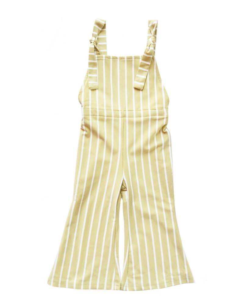 Bell Bottom Jumpsuit - Custard