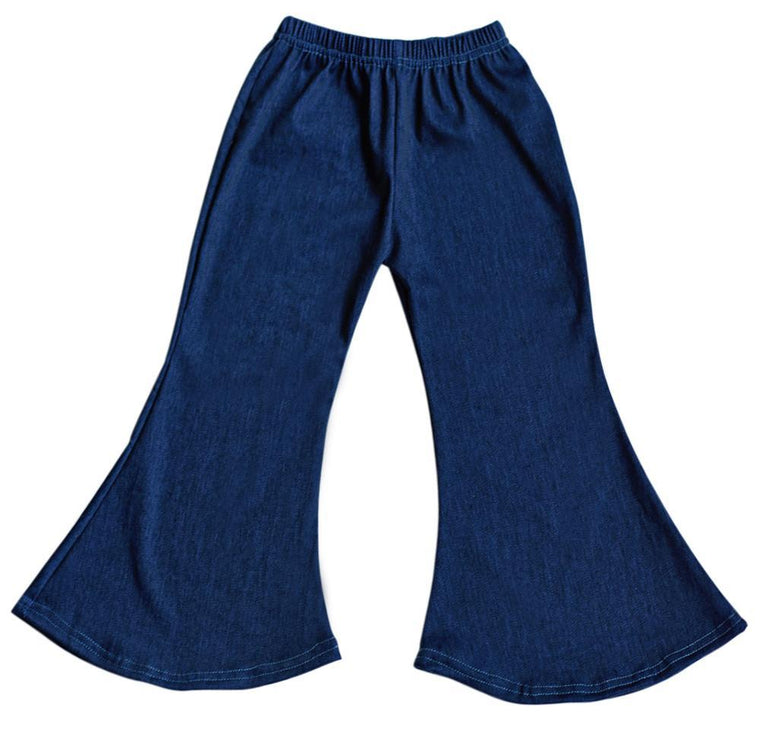 Bell Bottom Baby Pants - Denim