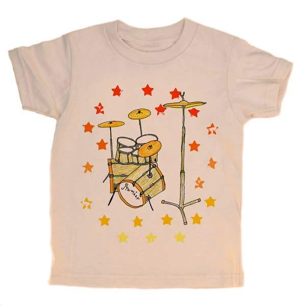 Organic Cotton Tee - Drums