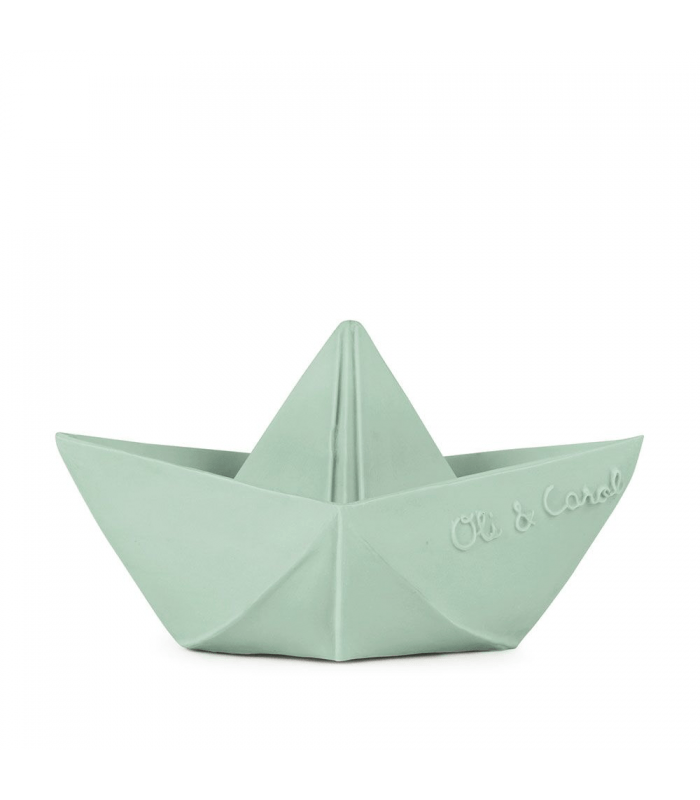 Organic Teething Toy - Origami Boat Mint