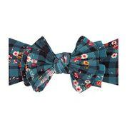 Baby Bling Fab-Bow-Lous Headband Bow - Floral Plaid