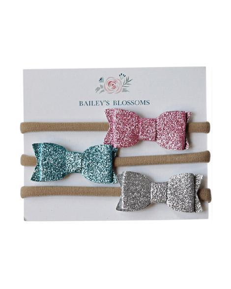 Headband Bow Set - Spring Glitter