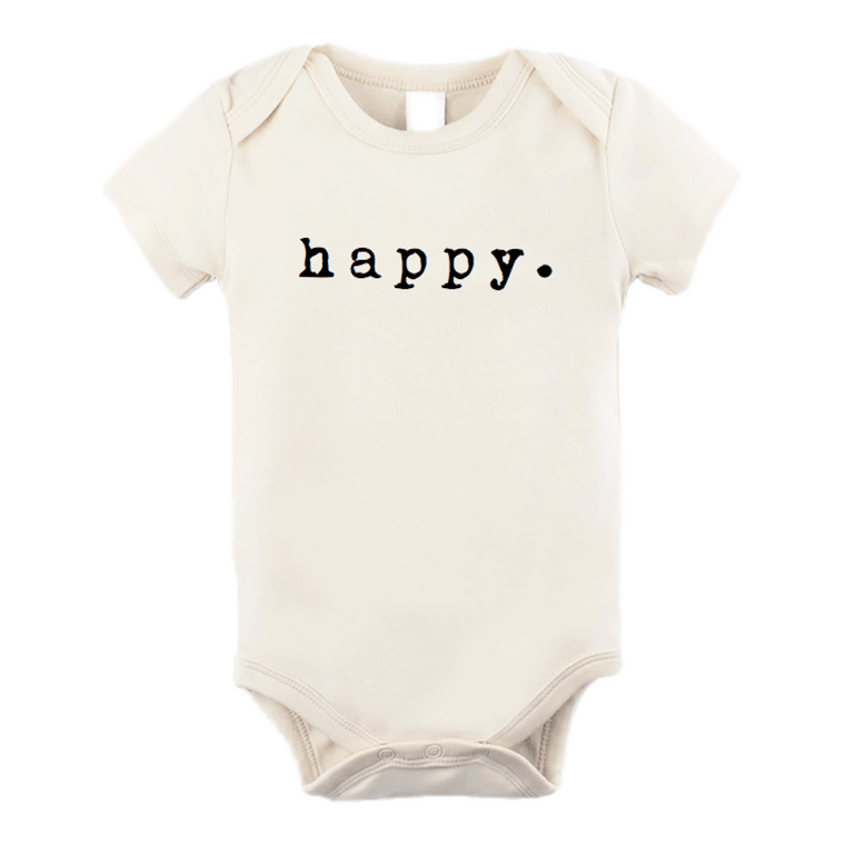 Organic Cotton Baby Onesie - Happy