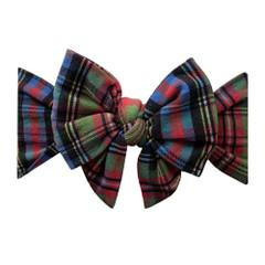 Baby Bling DEB Printed Bow - Holiday Plaid