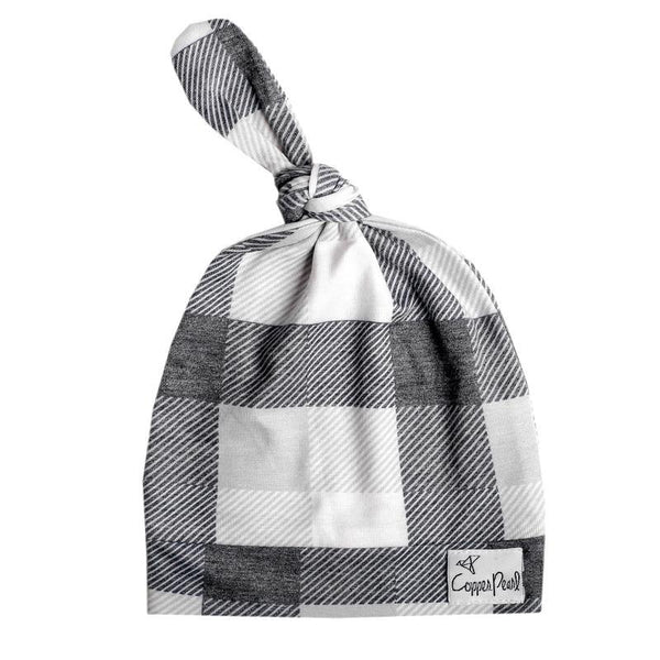 Top Knot Beanie for Infants - Hudson