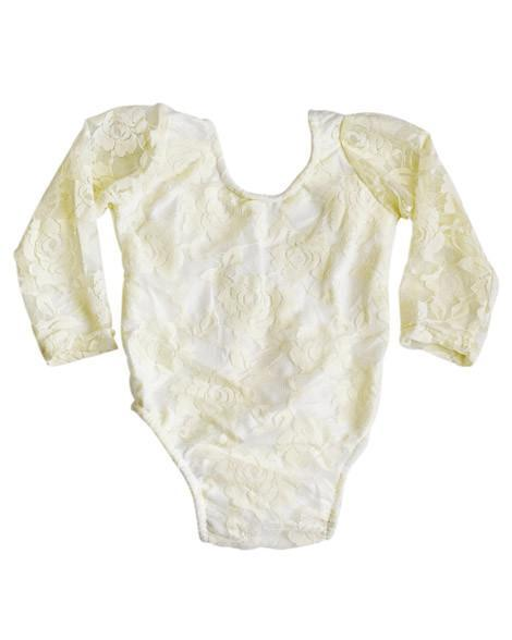 Lace Baby Leotard - Ivory