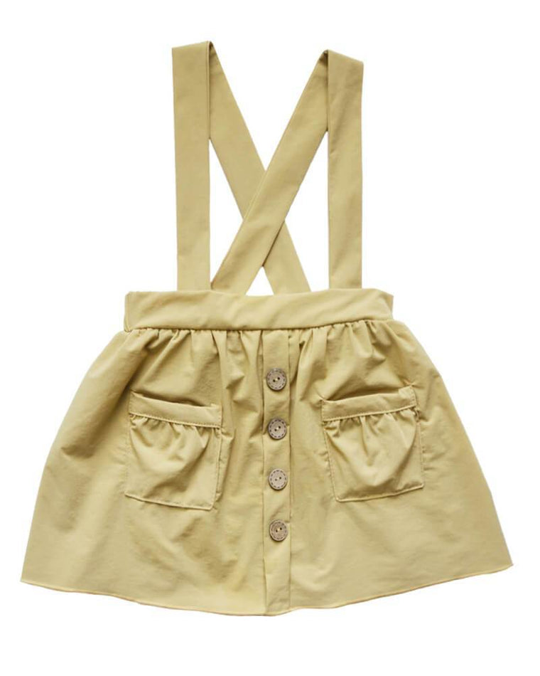 Suspender Pocket Skirt  - Khaki