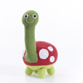 Organic Knit Baby Toy - Large Turtle