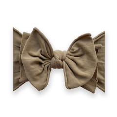 Baby Bling Fab-Bow-Lous Headband Bow - Latte