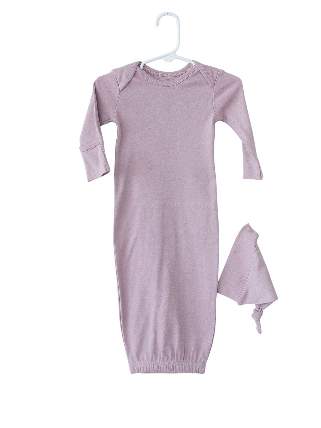 Organic Cotton Baby Sleeper Gown Set - Solid Colors
