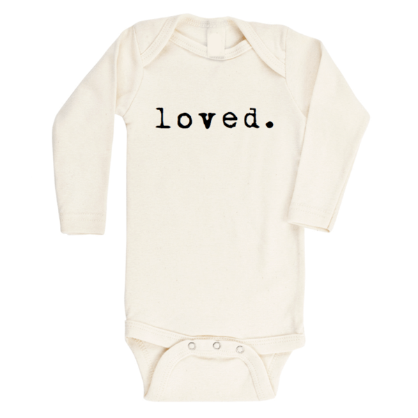 Organic Baby Long Sleeve Onesie - Loved