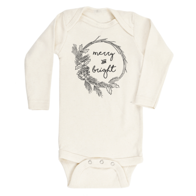 Organic Baby Long Sleeve Onesie - Merry & Bright