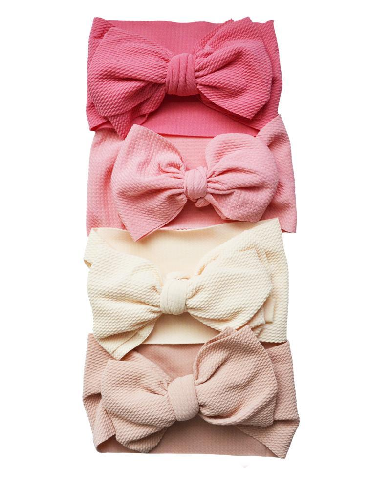 Messy Bow Headwrap for Toddler - Pink