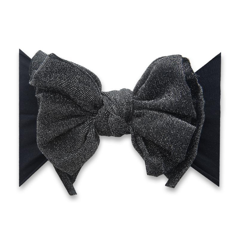 Baby Bling Fab-Bow-Lous Shimmer Headband Bow - Black
