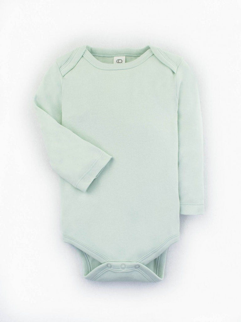 Organic Cotton Baby Bodysuit - Mint