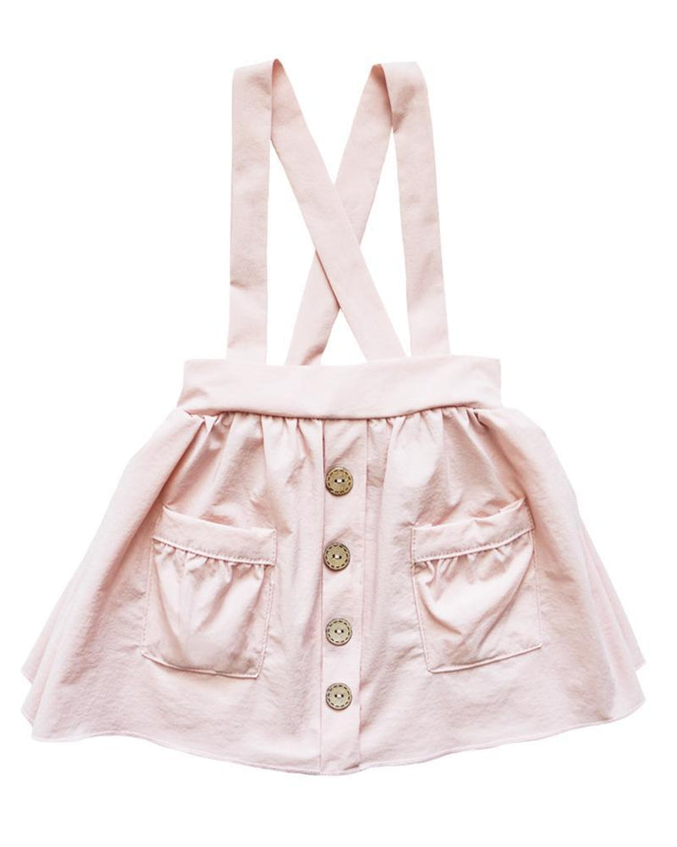 Suspender Pocket Skirt  - Pink