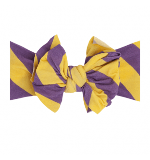 Baby Bling Fab-Bow-Lous Headband Bow - Purple/Gold