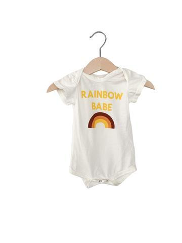 Organic Cotton Onesie - Rainbow Babe