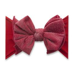 Baby Bling Fab-Bow-Lous Shimmer Headband Bow - Metallic Red