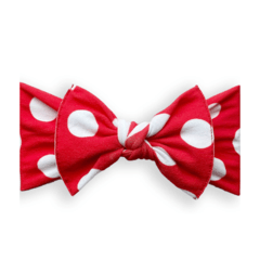 Baby Bling Printed Bow Knot - Red Polka Dot