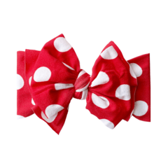 Baby Bling Fab-Bow-Lous Headband Bow - Red Polka Dot